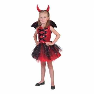 3 delige verkleedkleren jurkje duivel