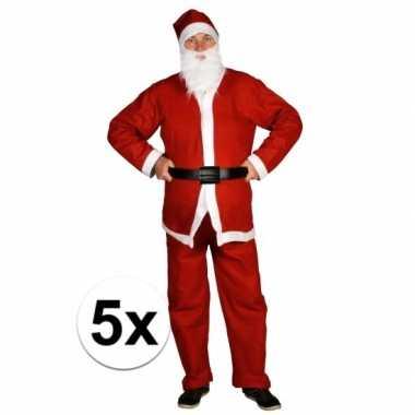 5x voordelige santa run kerstman verkleedkleren voor volwassenen