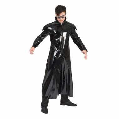 90s verkleedkleren gothic lakleren jas voor volwassenen