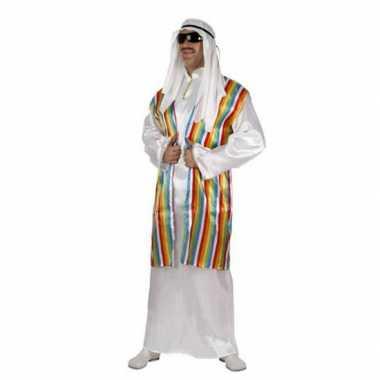 Arabisch verkleedkleren met regenboog vest voor volwassenen