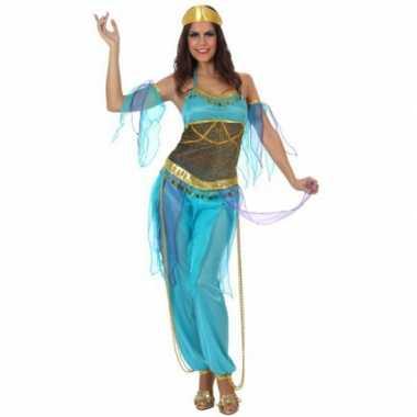 Arabische danseres verkleedkleren blauw