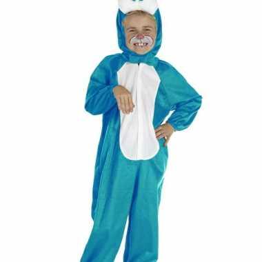 Blauw konijnen verkleedkleren voor kinderen