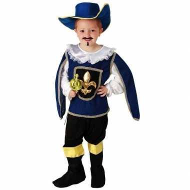 Blauw musketiers verkleedkleren voor jongens
