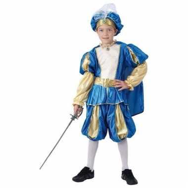 Blauw prinsen verkleedkleren voor jongens