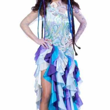 Blauwe prinses van de zee verkleedkleren