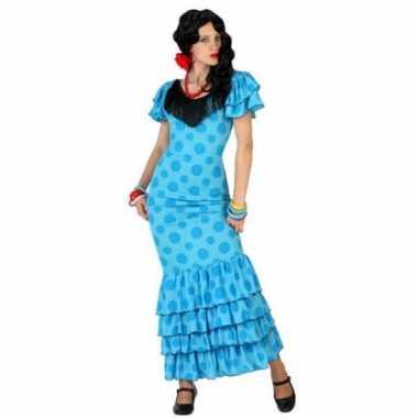 Blauwe spaanse verkleedkleren jurk