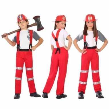 Brandweer pak / verkleedkleren voor jongens en meisjes