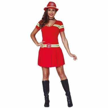 Brandweer verkleedkleren/jurkje voor dames