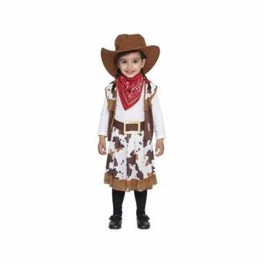 Bruin cowboy verkleedkleren voor peuters