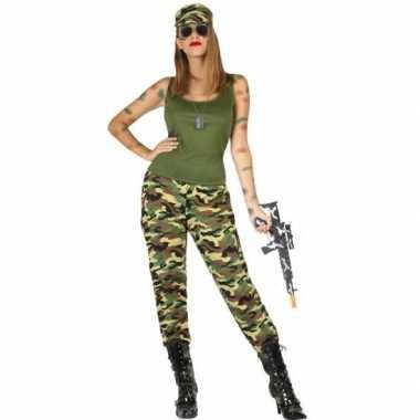 Camouflage soldaat verkleed pak/verkleedkleren voor dames