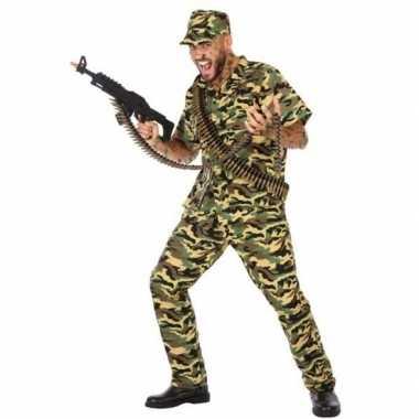 Camouflage soldaat verkleed pak/verkleedkleren voor heren