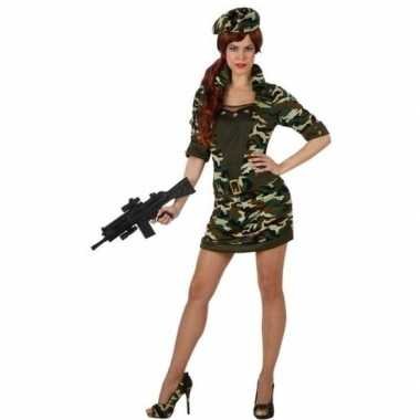 Camouflage soldaat verkleedkleren/jurk voor dames