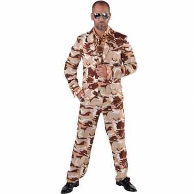 Camouflage verkleedkleren 3 delig voor heren