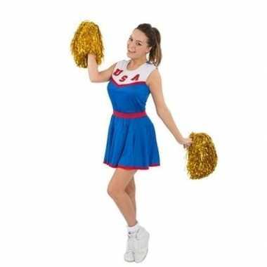Cheerleaders verkleedkleren met pom poms voor dames