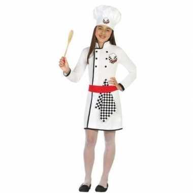 Chef kok verkleedkleren/jurk voor meisjes