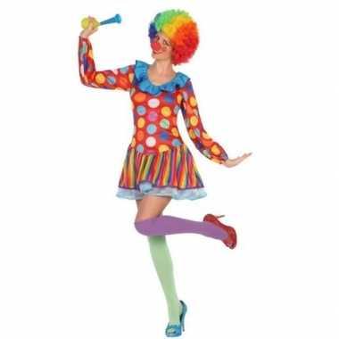 Clown verkleed jurkje/verkleedkleren voor dames