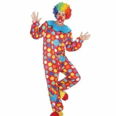 Clown verkleed pak/verkleedkleren voor heren