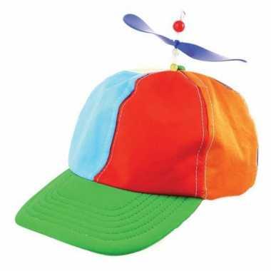 Clown verkleedkleren propeller petjes