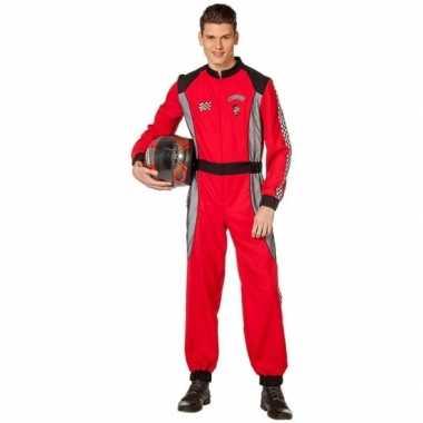 Coureur verkleedkleren rood voor heren