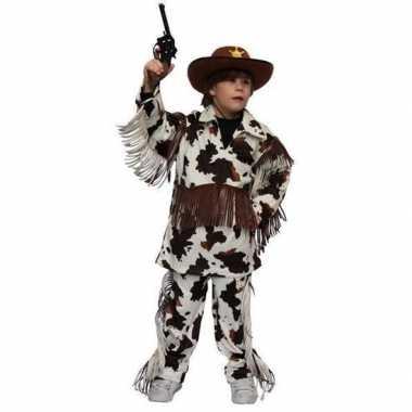 Cowboy verkleedkleren met koeienprint voor kinderen