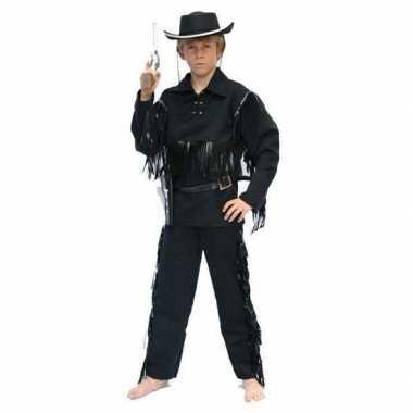Cowboy verkleedkleren zwart voor kinderen