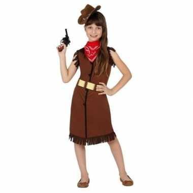 Cowgirl/cowboy verkleedkleren/jurk voor meisjes