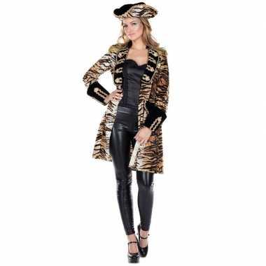 Dames tijgerprint verkleedkleren jas