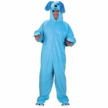 Dieren verkleedkleren blauwe hond voor volwassenen