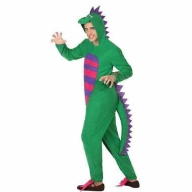 Dierenpak groene draak verkleedverkleedkleren voor heren