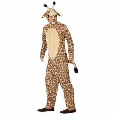 Dierenpak verkleedkleren giraffe voor volwassenen