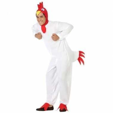 Dierenpak verkleedkleren kip/haan voor volwassenen