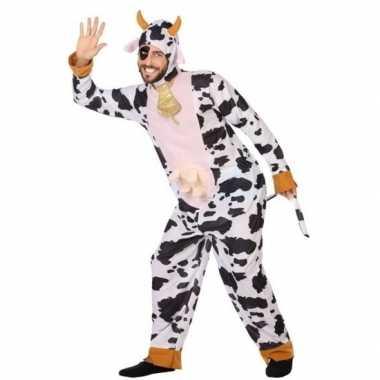 Dierenpak verkleedkleren koe voor volwassenen