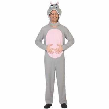 Dierenpak verkleedkleren nijlpaard voor volwassenen