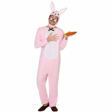 Dierenpak verkleedkleren paashaas/konijn voor volwassenen