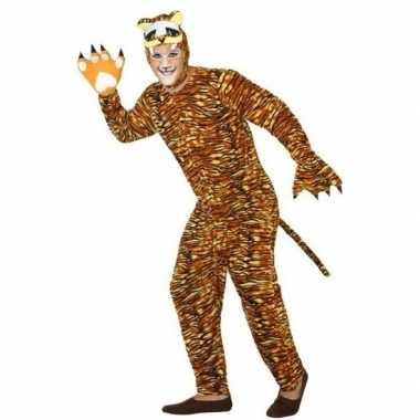 Dierenpak verkleedkleren tijger voor volwassenen