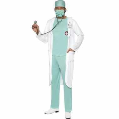 Dokter verkleedkleren met jas voor heren