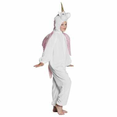 Eenhoorn dieren onesie/verkleedkleren voor kinderen wit