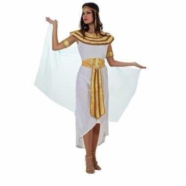 Egyptische farao cleopatra verkleedkleren/jurk wit voor dames