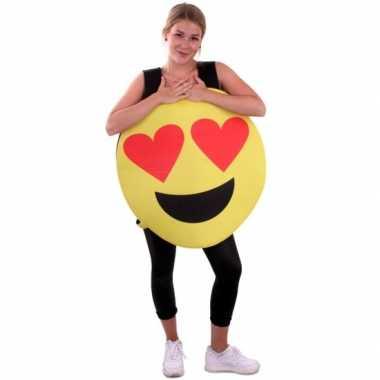 Emoticon verkleedkleren hartjes ogen voor volwassenen