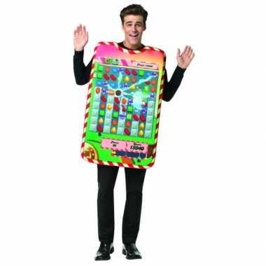 Feest candy crush verkleedverkleedkleren voor volwassenen