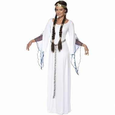 Feest middeleeuwse witte verkleedverkleedkleren voor dames