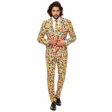 Feest verkleedkleren confetti voor heren