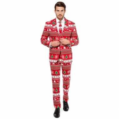 Feest verkleedkleren kerstmis print