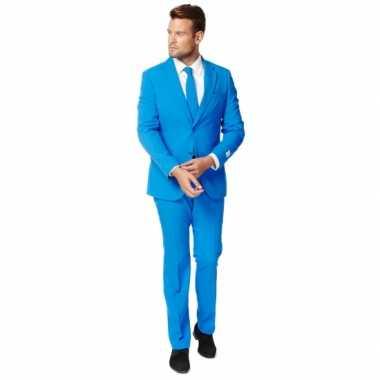 Fel blauw zaken verkleedkleren voor heren