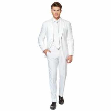 Fel wit verkleedkleren pak voor heren