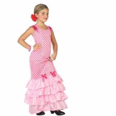 Flamenco danseres verkleedkleren voor kinderen roze