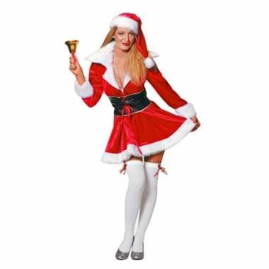 Fluwelen kerstvrouw verkleedkleren