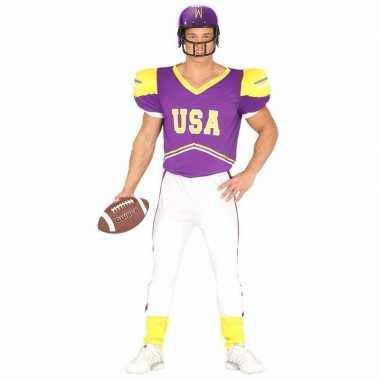 Football verkleedkleren paars/geel voor heren