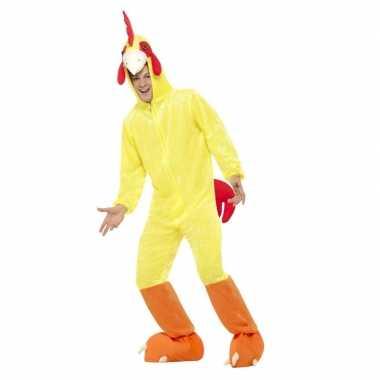 Geel kip/haan verkleedkleren voor volwassenen
