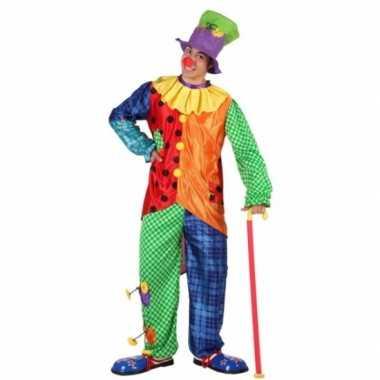 Gekleurd clowns verkleedkleren voor mannen